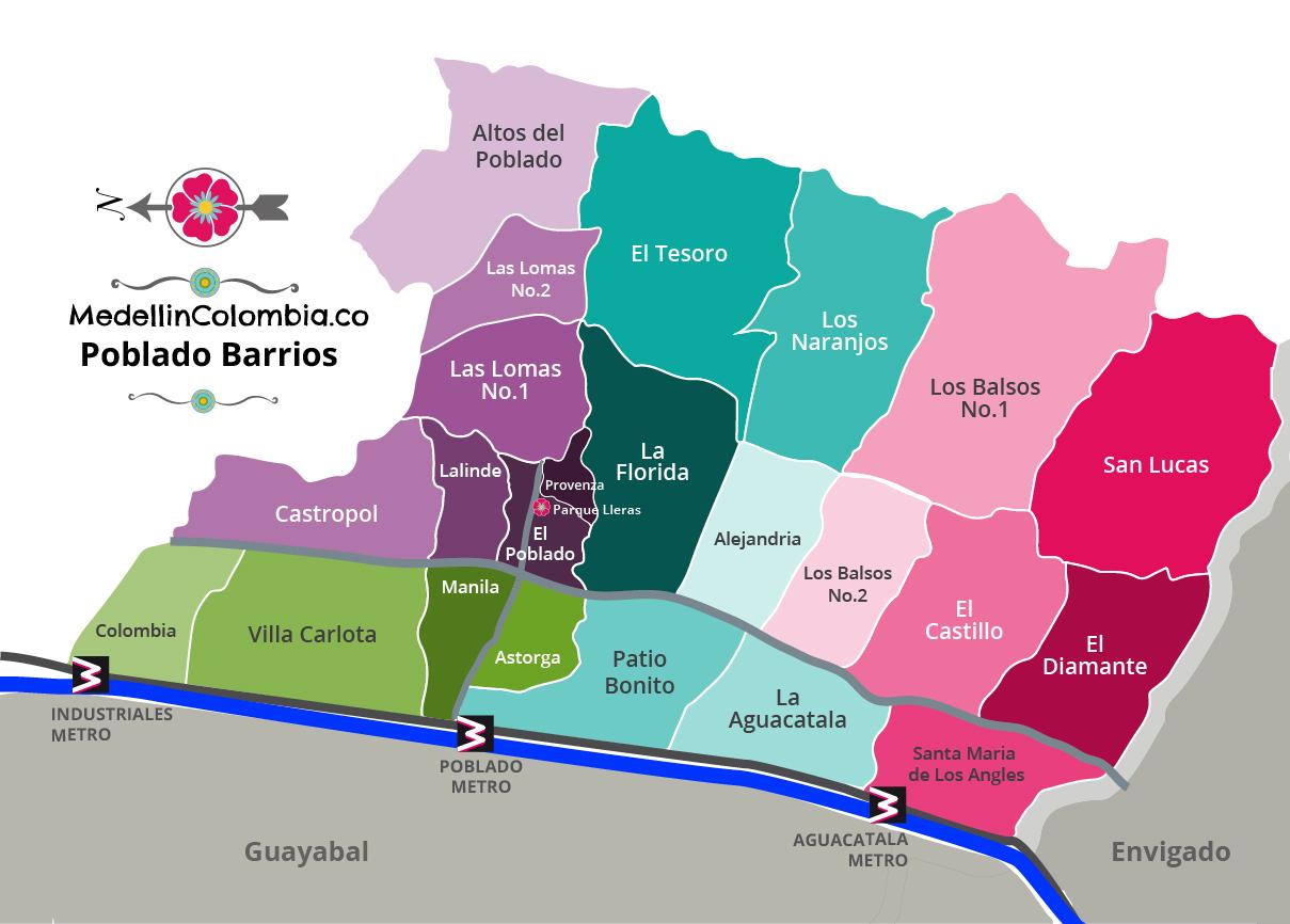 Barrios Of Poblado Medellin Medellincolombia Co