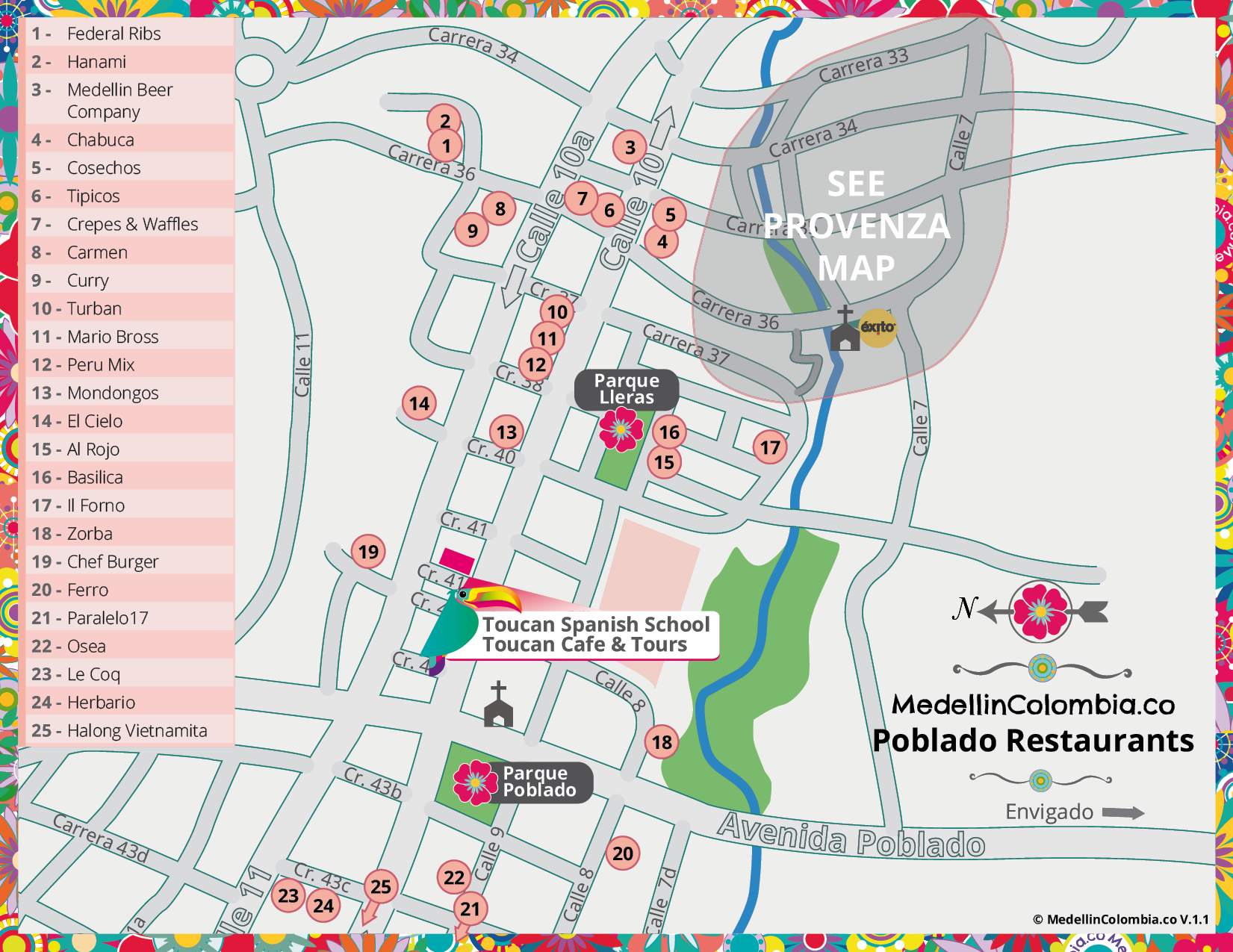 Map - Best Medellin Restaurants
